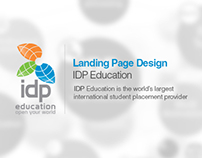 IDP Student palcement landing page design