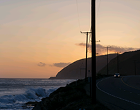 Sunset at Highway One