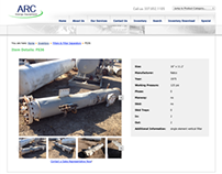 ARC Energy Equipment Web Site, Inventory Management