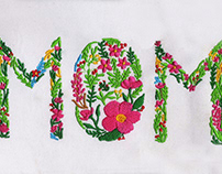 FLOWERING MOM MOTHERS DAY EMBROIDERY DESIGN