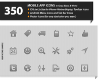 350 Icons for iOS, Android, and Windows Phone 7