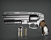 454 Magnum revolver with 30mm grenade launcher.