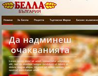 Bella Homepage Concept