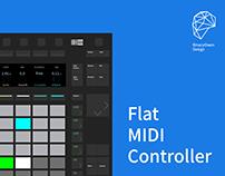 Flat MIDI controller