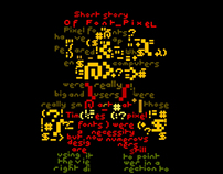 Pixel font booklet