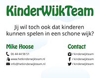Roll-up banner, KinderWijkTeam