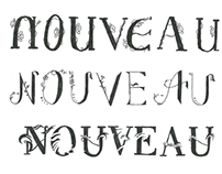 Typographie, mouvements