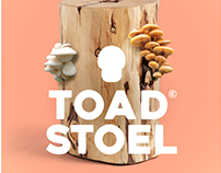 Toad-stoel art meets food growing