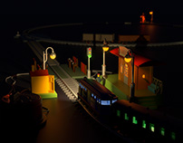 Toy Train Station