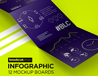 Knockout Prezo Infographic Mockup Board