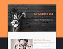 Web Theme Flat Design ( A musicians end )