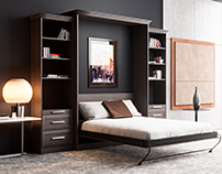 Animation Corona render of Furniture (Superior Wall Bed