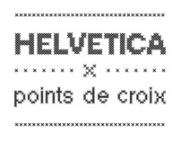 Helvetica x point de croix