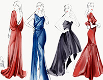 Zac Posen illustrations