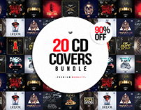 20 CD COVER TEMPLATES BUNDLE