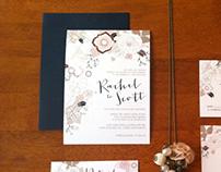 Wedding Invitations - Rustic Flowers
