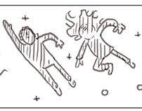 storyboard zum Kinofilm Moonjourney