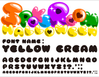 "FREE FONT ""YELLOW CREAM"""
