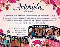 Convite Antonieta