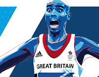 Mo Farah illustration