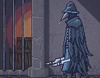 Bloodborne Pixel Art Animation