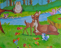 Mural. Kids Disney Room, Volgograd