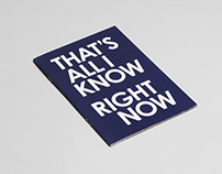 That's All I Know Right Now / Felipe Hernández