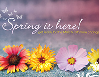 Spring Time Change Postcard Design | 2011