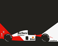 1991 McLaren MP4/6 Formula 1 Race Car