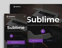 Sublime - FREE Website template for Agencies
