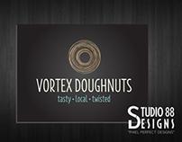 Vortex Doughnuts Logo Design