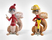 Squirrel Stolbud Mascot