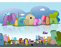 Art Direction & Illustrations for Micropolix theme park