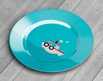 Circle Ceramic Plate Mock-Up