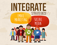 Email Marketing & Social Media Infographic