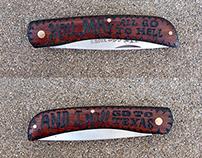 Burnt Pocket Knife