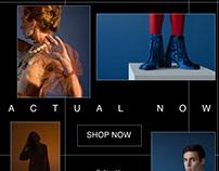 Fashion Site Homepage Designs