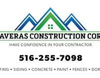 Taveras Construction Corp. Business Card