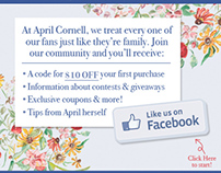 April Cornell: Facebook Eblasts