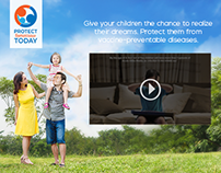 GSK Pediatric Vaccines Branding & Website Concepts