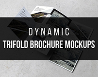 Dynamic Trifold Brochure Free Mockups
