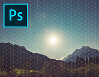 Grid Overlay Effects Photoshop Template