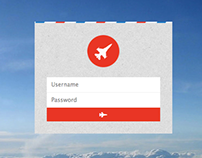 Flight 22 Log in: HTML5, CSS3, Boostrap & Font Awesome