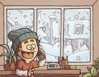 HENRI GODON - La tempête de neige