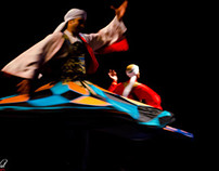 Egyptian whirling dervish dance  Amer Touny