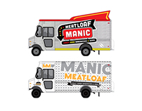 Food Truck Logo / Truck Wrap Concept - Manic Meatloaf