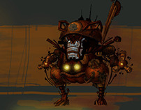 "Concept art ""Dungeon robot"""