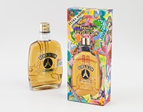 Custom package with paint&collage on Tequila box 2015
