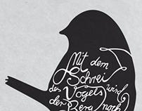 Der Schrei des Vogels (Poster)