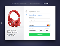 Daily UI #2 - Credit card checkout UI